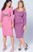 Сукня-футляр з ефектом запаху і складками - фото 1