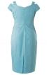 Сукня-футляр з широкими бретелями - фото 4