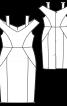 Сукня-футляр з широким вирізом - фото 3