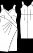 Сукня-футляр на широких бретелях - фото 3
