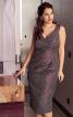 Сукня-футляр на широких бретелях - фото 1