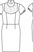 Сукня-футляр з коміром-стойкою - фото 3