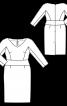 Сукня-футляр з рукавами 7/8 і широким вшивним поясом - фото 3