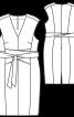 Сукня-футляр з приспущеними плечима - фото 3