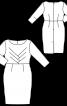 Сукня-футляр з оригінальними виточками на ліфі - фото 3