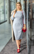 Сукня-футляр з оригінальними виточками на ліфі - фото 1