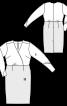 Сукня-футляр з V-подібним вирізом і запахом - фото 3