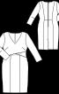 Сукня футляр з накладними деталями ліфа - фото 3