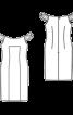 Сукня-футляр з призбореними бретелями - фото 3