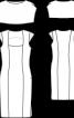 Сукня-футляр із пелериною - фото 3
