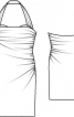 Сукня коктейльна з бретеллю-петлею - фото 3