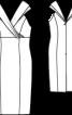 Сукня коктейльна з коміром-шарфом - фото 3
