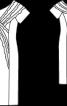 Сукня-футляр з воланами з органзи - фото 3