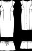 Сукня-футляр мереживна зі знімною баскою - фото 3