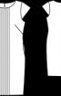 Сукня-футляр з декоративними складками - фото 3