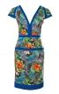 Сукня приталеного силуету з V-подібними вирізами - фото 2