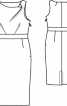 Сукня-футляр з хвилястим вирізом горловини - фото 3