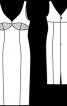 Сукня-футляр на бретелях з глибоким вирізом - фото 3