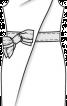 Сукня-футляр з діагональною складкою - фото 3