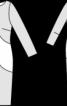 Двокольорова сукня з рукавами 3/4 - фото 3