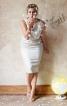 Сукня-футляр з хвилястим вирізом горловини - фото 1