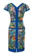 Сукня приталеного силуету з V-подібними вирізами - фото 4