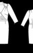 Сукня з рукавами 3/4 і V-подібним глибоким вирізом - фото 3