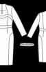 Сукня з довгими рукавами та фігурною планкою горловини - фото 3