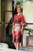 Шовкова сукня з рюшами на рукавах - фото 1
