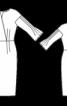 Шовкова сукня з рюшами на рукавах - фото 3