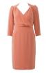 Сукня з рукавами 3/4 і V-подібним глибоким вирізом - фото 2