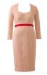 Сукня з довгими рукавами та фігурною планкою горловини - фото 2