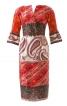Шовкова сукня з рюшами на рукавах - фото 2
