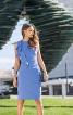 Сукня-футляр з воланом і драпіровками - фото 1