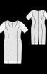 Сукня-футляр мереживна з короткими рукавами - фото 3