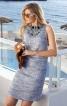 Сукня міні з відкритими плечима і декором з намистин - фото 1