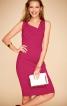 Сукня-футляр із вигнутими рельєфними швами - фото 1