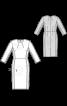 Сукня-футляр з контрастними боковими вставками - фото 3