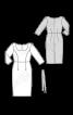 Сукня-футляр із довгими рукавами і ременем - фото 3