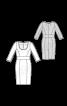 Сукня-футляр із широким вшивним поясом - фото 3