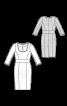 Платье-футляр с вшивным поясом и воланами на рукавах - фото 3