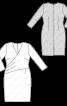 Сукня-футляр трикотажна з м'якими складками - фото 3