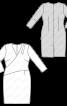 Сукня-футляр трикотажна з м'якими складками на ліфі - фото 3