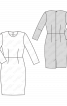 Платье-футляр отрезное по талии - фото 3