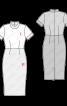 Платье-футляр двухцветное - фото 3