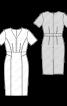 Сукня-футляр з короткими рукавами - фото 3