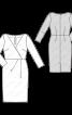 Сукня відрізна трикотажна зі складками на талії - фото 3
