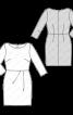 Сукня-футляр відрізна трикотажна - фото 3