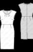 Сукня-футляр з приспущеною лінією плечей - фото 3