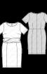 Сукня-футляр з драпіровкою на талії - фото 3